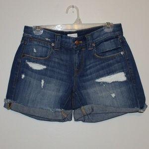 J. Crew Jean Distressed Shorts 25